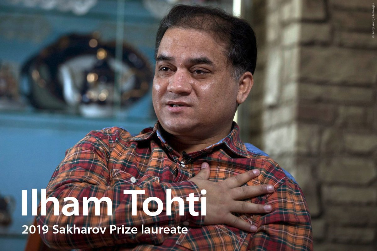 Today is Ilham Tohti, this years #SakharovPrize laureate, 50th birthday. We hope hell celebrate his next birthday in freedom with this family. Read the message from our MEP @bueti about the role of this advocate for the rights of Chinas Uyghur minority bit.ly/2PjCRd2