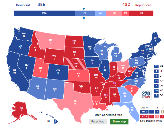 Here is Trump's approval rating in all 50 states, broken down into Electoral College format.   He is now 10 points underwater in Iowa (43/53) and only 2 points above in Montana (50/48). 👀