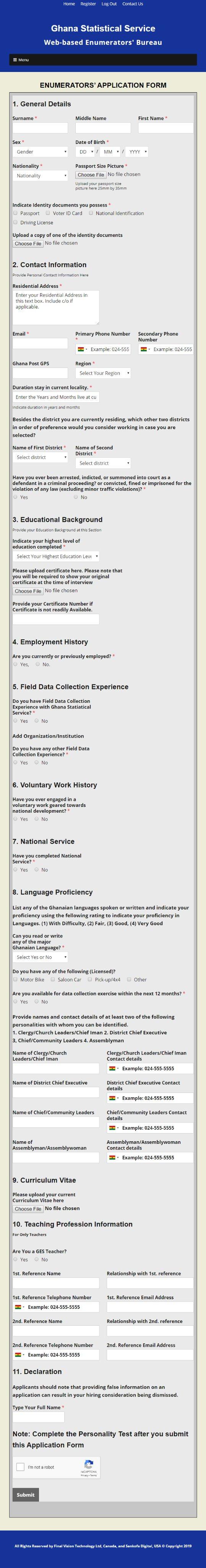 Ghana Statistical Service Recruitment 2020