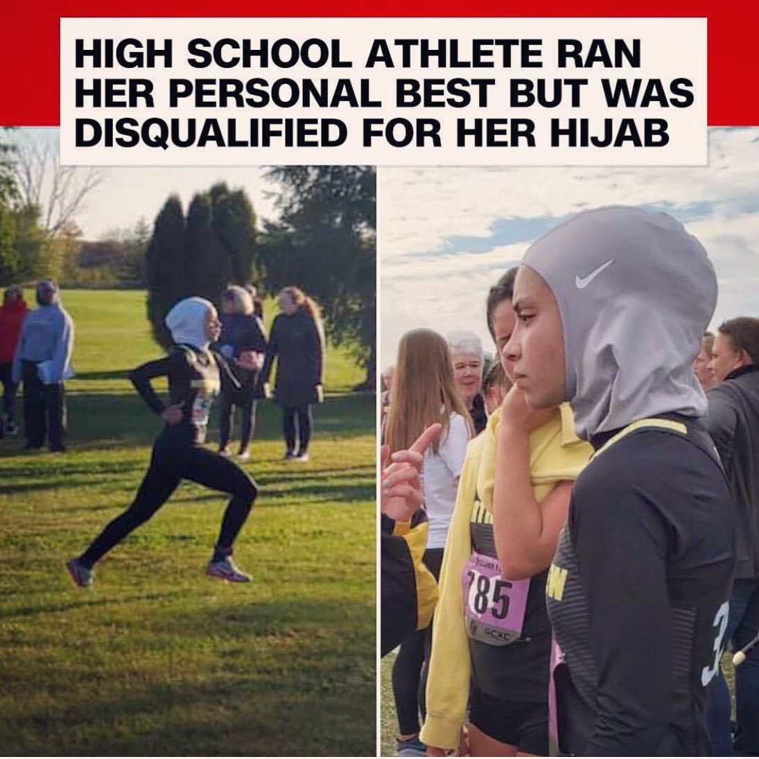 So you telling me they made her run a whole long race and didnt tell her until she finished? Wth!! She shouldn't sacrifice her religion and a part of who she is to RUN, or anything she's passionate about. SMH she's a winner in my eyes !! 🙏🏽