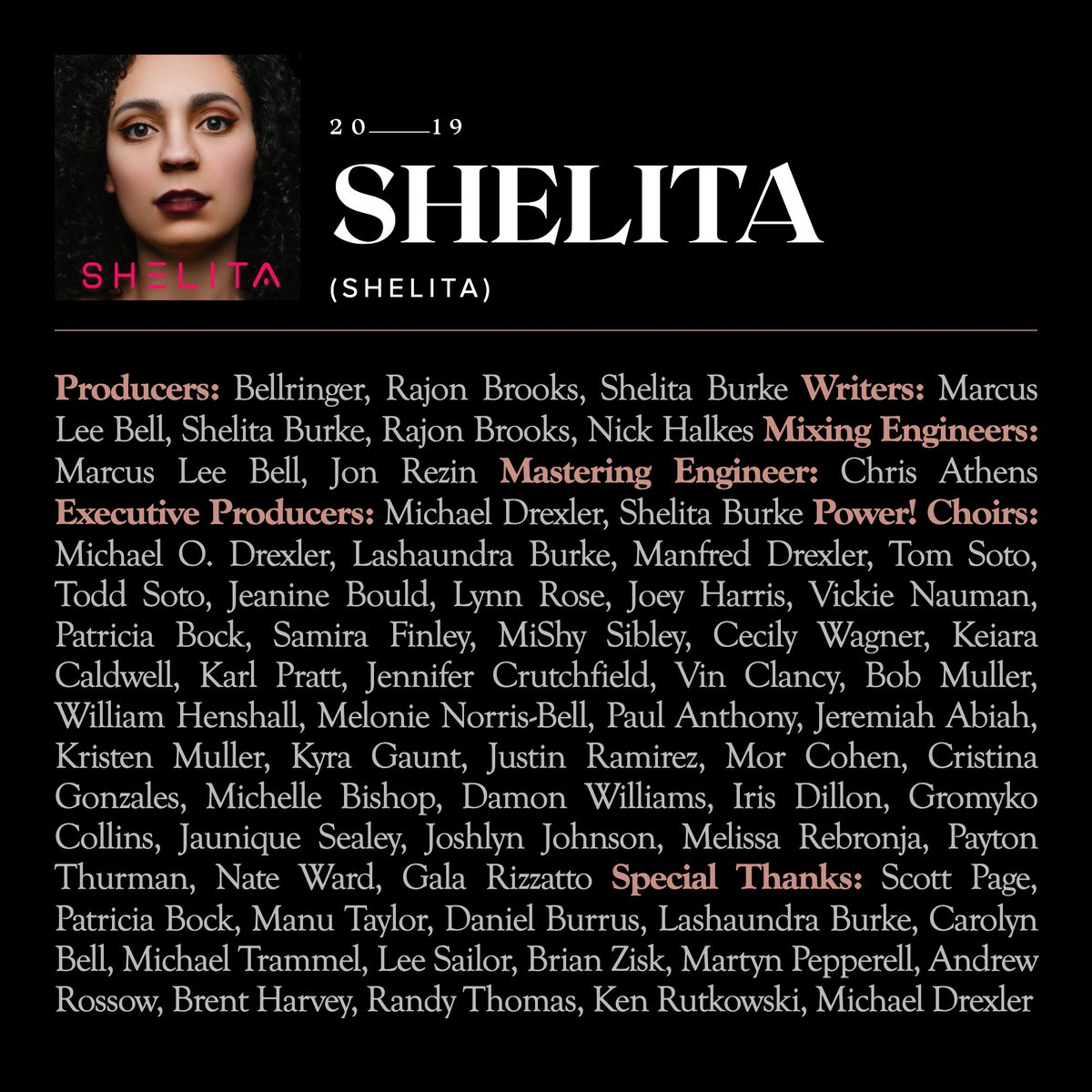 Let's celebrate with the Recording Academy all the amazing human beings that help make the SHELITA possible in the world!  Full SHELITA album credits ❤️💖 #BehindTheRecord #GiveCredit  #WeAreMusic @RecordingAcad https://t.co/wKKzDtpIIl