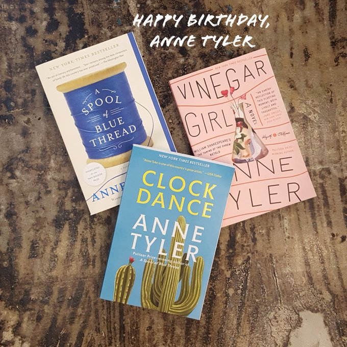 Happy birthday, Anne Tyler!