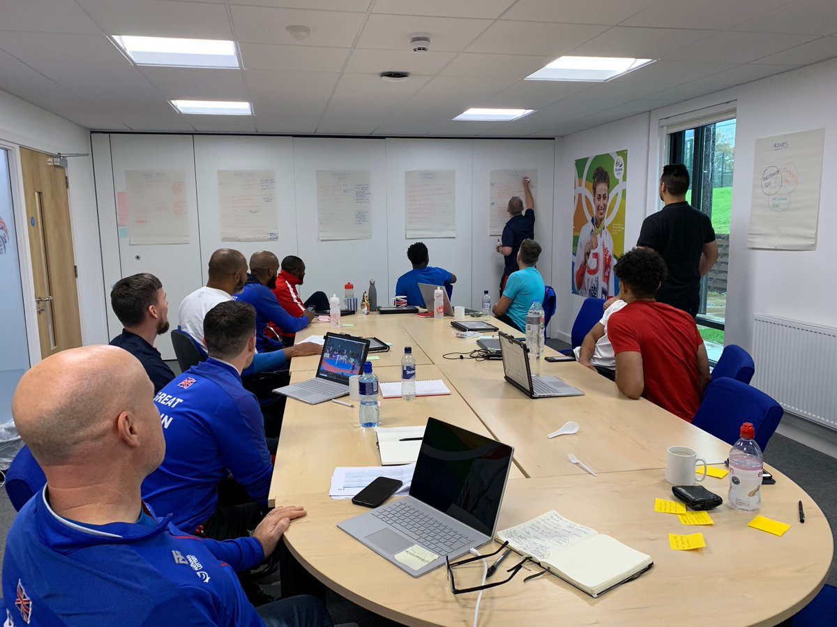 All for one and one for all! ✨ Great to see both the Development Programme and Elite coaching staff coming together to discuss the fundamental basics of the sport! Big thanks to @ElliottSportPsy for his help on facilitating the session too! 🤝 #Taekwondo @eis2win