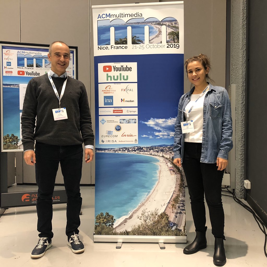 Xavier Giro and Amanda Duarte in ACM Multimedia 2019.
