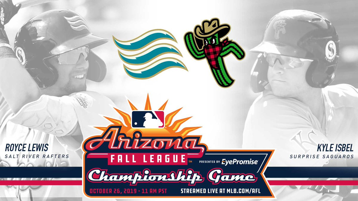 Tomorrow! Royce Lewis and the Rafters take on the Kyle Isbel and the Saguaros at 11 AM MST at Salt River Fields STREAM at MLB.com/AFL