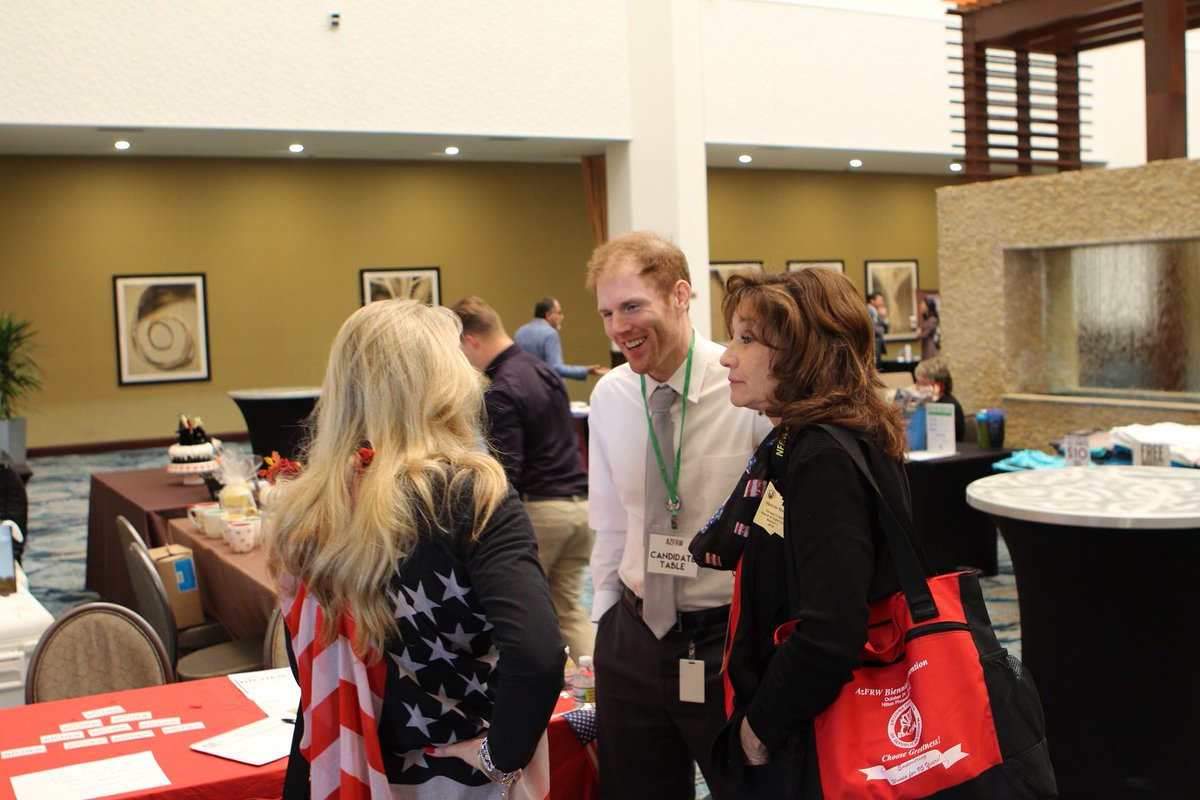 Great to swing by @AzFRW convention today. Should be a GREAT weekend of events !!! #Republicans #AZVotes