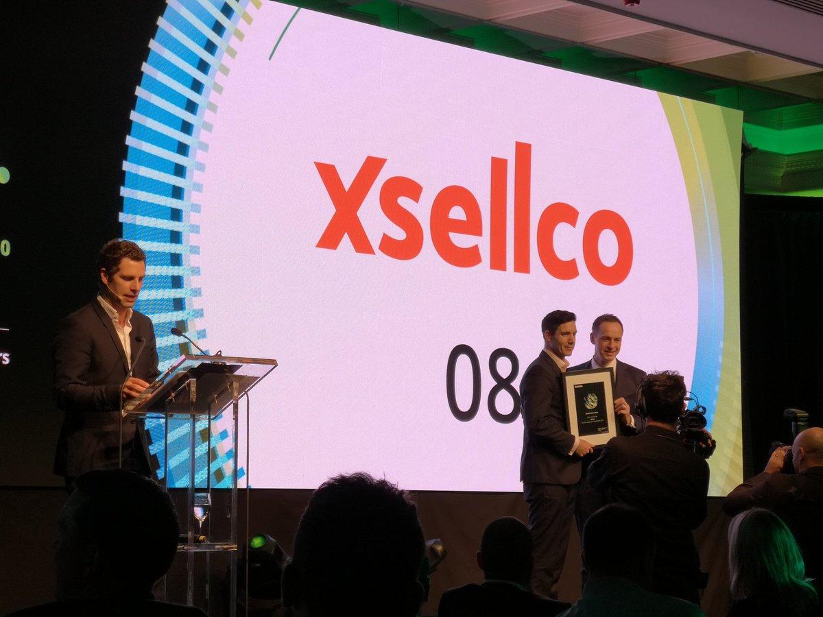 In eighth is @xSellco #fast50 @DeloitteNI