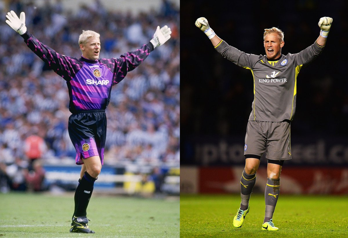 ✅ Biggest @PremierLeague wins:  📅 4th March 1995 🏟 @ManUtd 9-0 Ipswich 🧤 Goalkeeper: @PSchmeichel1   📅 25th October 2019 🏟 Southampton 0-9 @LCFC 🧤 Goalkeeper: @KSchmeichel1  👶 Like father, like son.