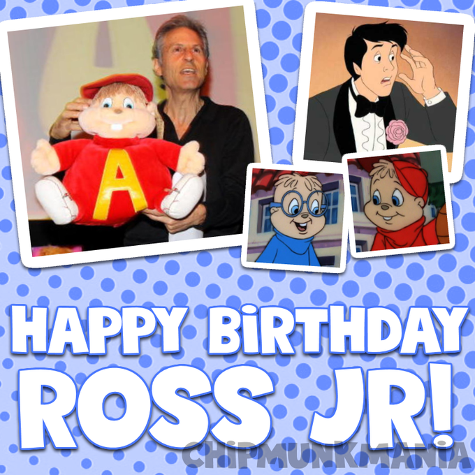 Happy 70th birthday to Ross Bagdasarian Jr.!  We love you and we hope you have a fantastic day!