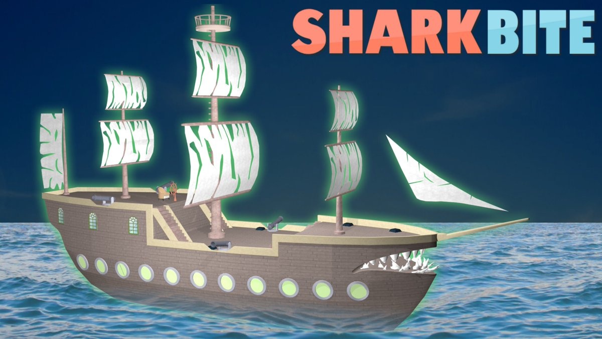 Simon On Twitter The Sharkbite Halloween Update Has Shipped Check Out The New Flying Dutchman Ship The New Pumpkin Launcher And The New Ghost Shark Use Code Skeletons In Game For 50 Free