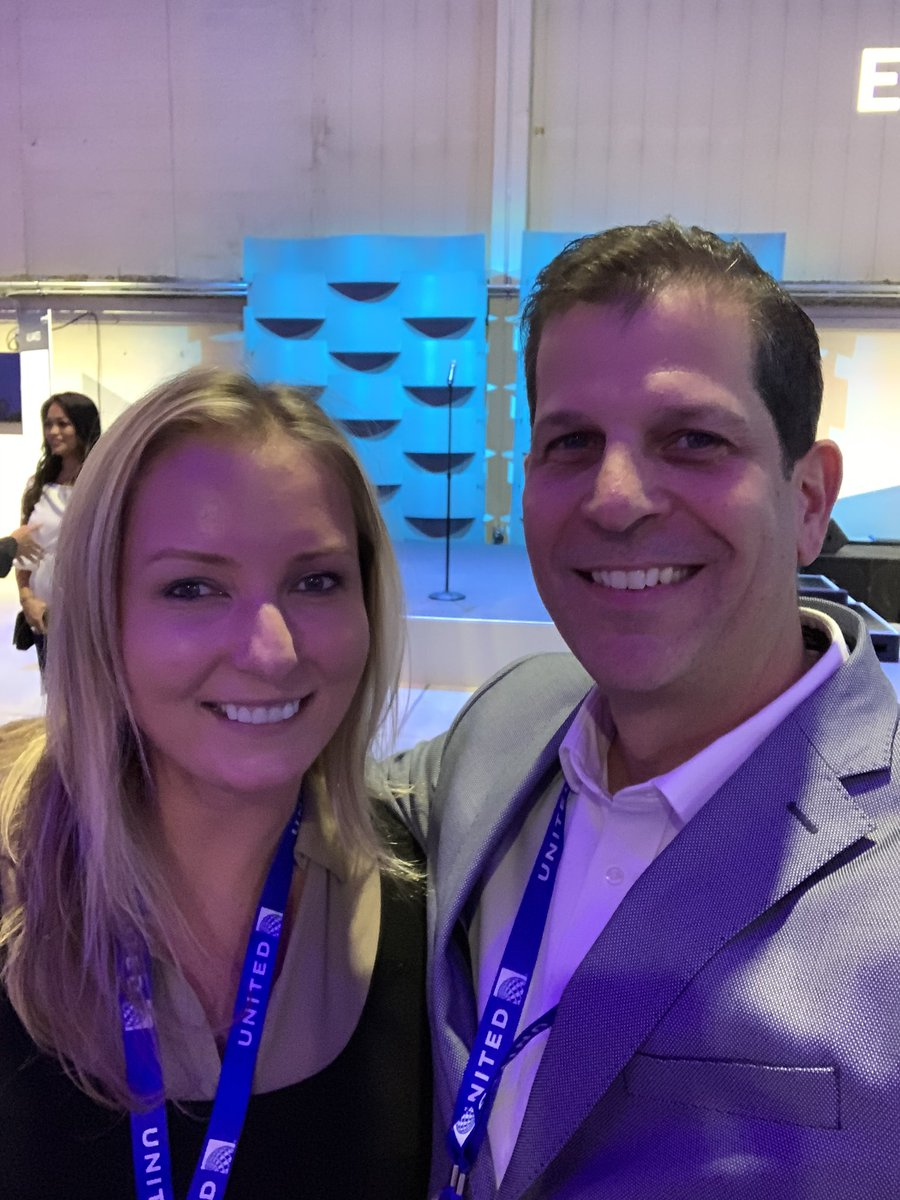 """So great running into my good friend and """"influencer"""" at United's Media Day!! Thank you @mtmorais28 for being such a great influencer for our UA team and our customers in EWR! @weareunited @JMRoitman #unitedflightplan"""