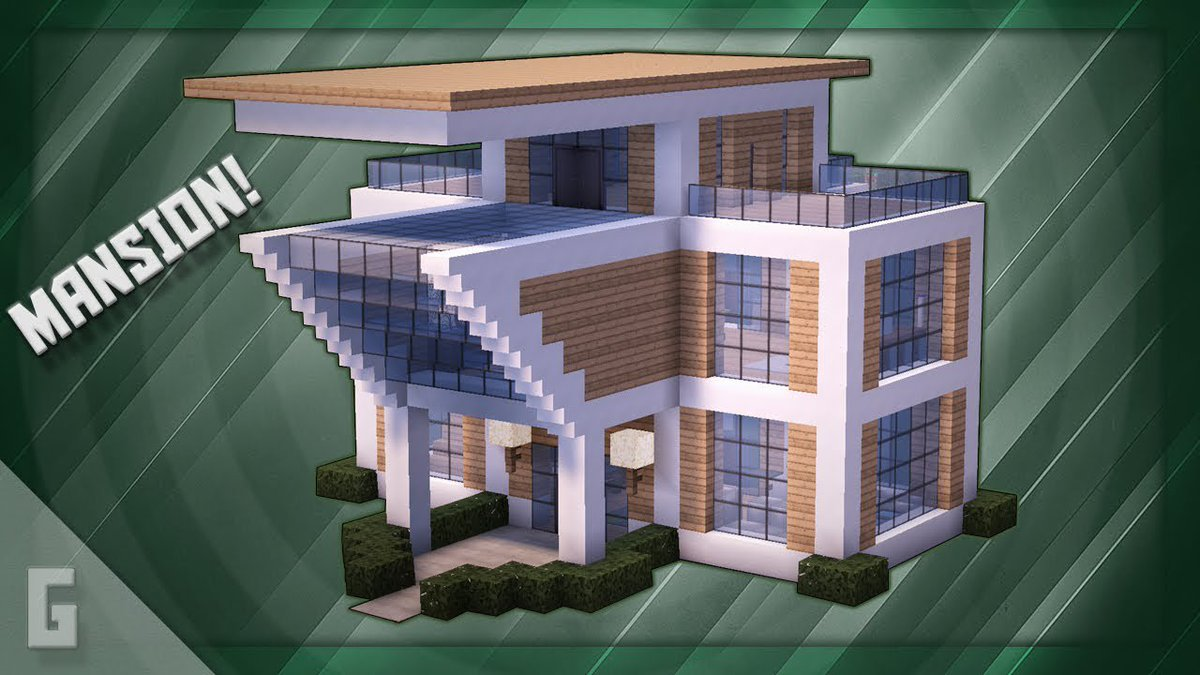 Pcgame On Twitter Minecraft How To Build A Modern Mansion