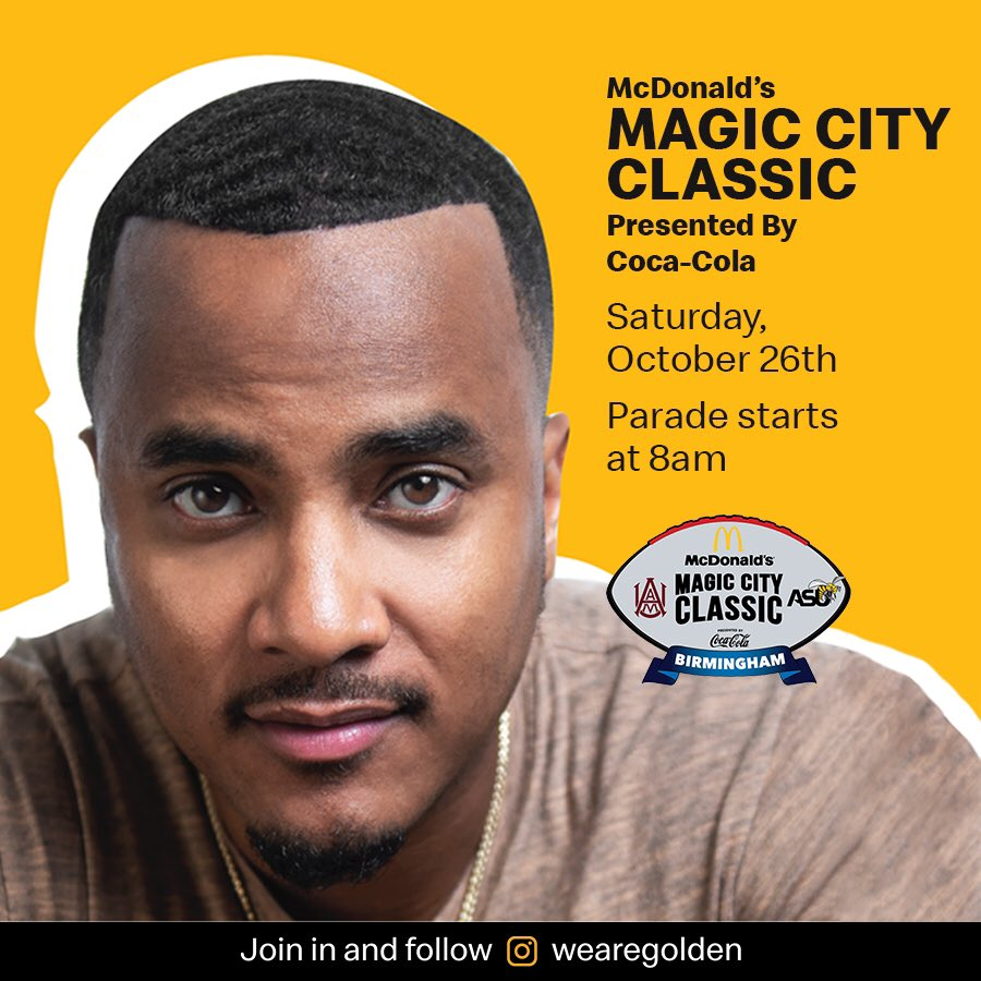 #ad Birmingham, Alabama im on the way Catch me #ThePartyKingpin #QuickSilva , #theguywiththebowtie @djlilmic & #LifestyleSpecialist @kennyburns at this years #MagicCityClassic parade, Sat 8AM. Turn up forbiggame &special post game concert by @2chainz Powered by: @wearegoldenpic.twitter.com/veqck8TIE2