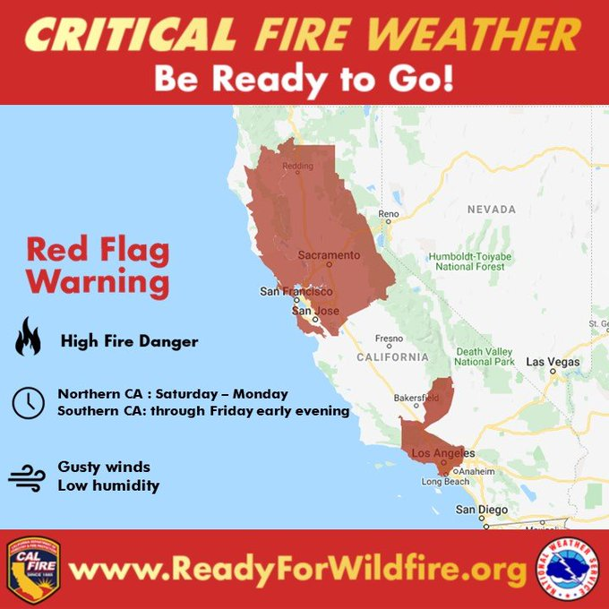 Graphic critical fire weather