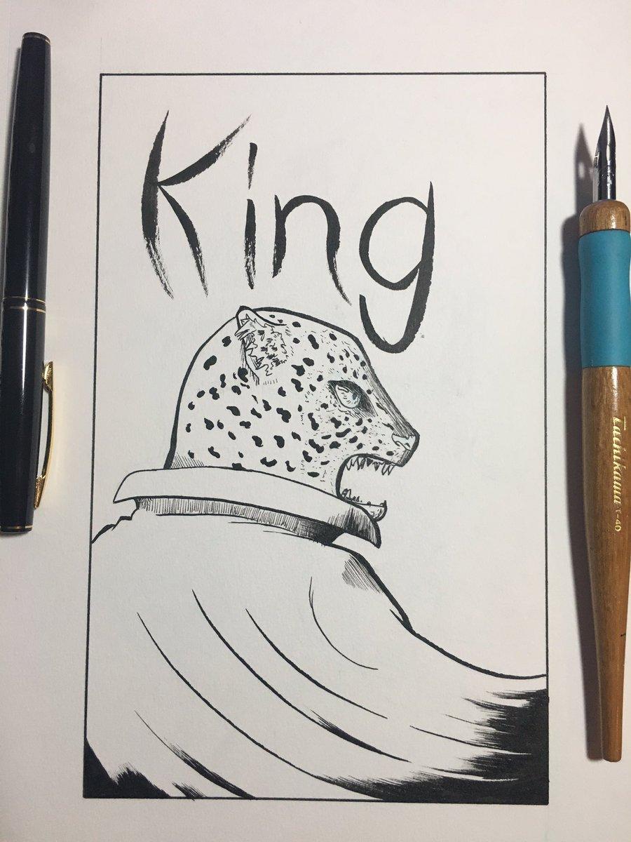Crow Ink Commissions Closed For A While On Twitter My Homie S Fav Tekken Character Tekken Drawing King Brush Pen Inktober Ink Art