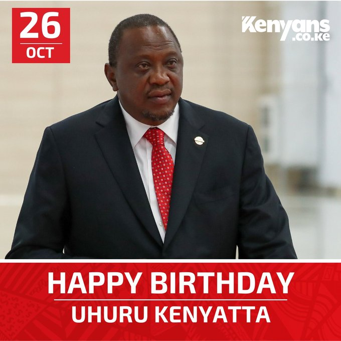 Happy Birthday President Uhuru Kenyatta. We wish you a great and prosperous year ahead.