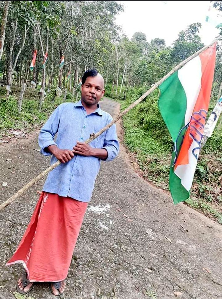 The star from this year's #KeralaBypolls2019 should be this INC worker who lost a bet!? #Elections2019  #funside #beingsporty pic.twitter.com/RvMAvqSct8
