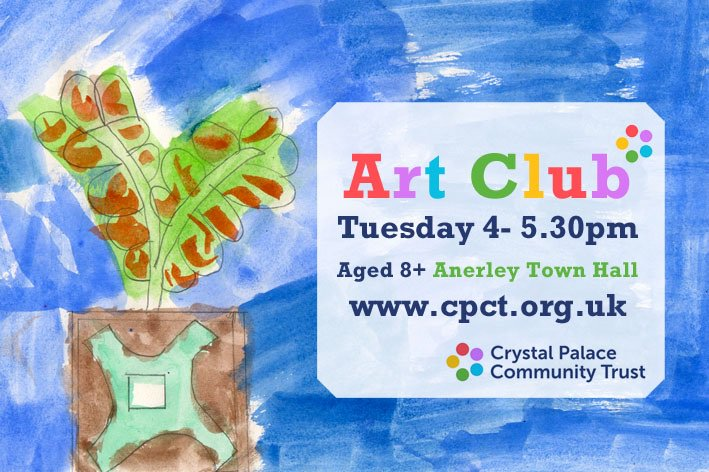 Our art club is back next week! #AnerleyTownHall #artclub #art #youthvoice