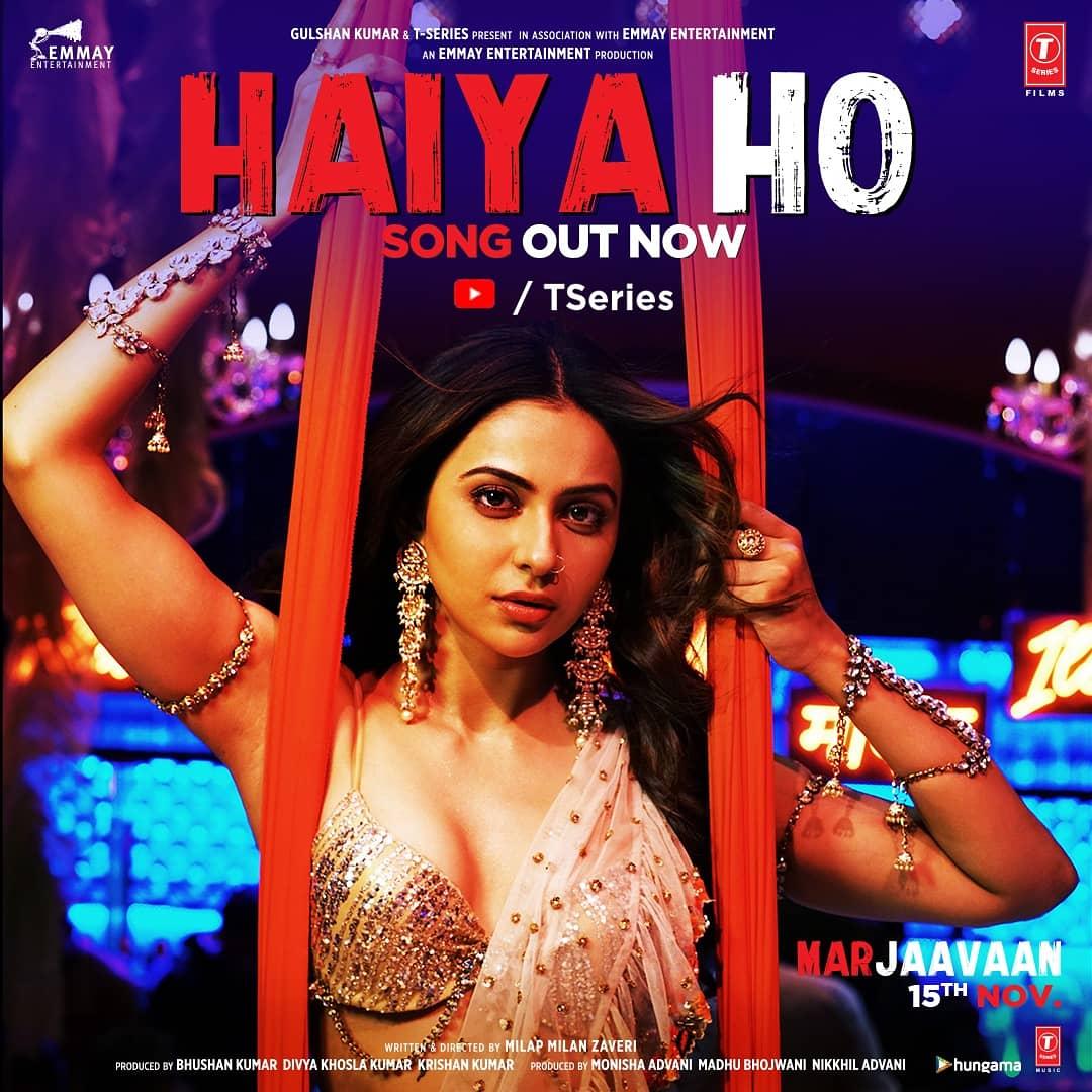 Iss Diwali, jalegi #HaiyaHo ki chingari! Song out now! #MarjaavaanOn15thNov      @Riteishd @SidMalhotra @Rakulpreet @tanishkbagchi @JubinNautiyal @TulsikumarTK @zmilap @itsBhushanKumar #KrishanKumar @monishaadvani @madhubhojwani