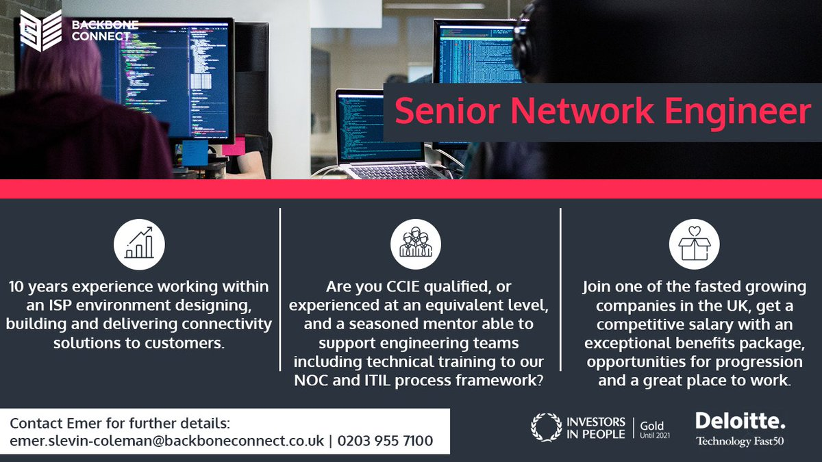 Backbone Connect On Twitter Are You Familiar With Building Cisco Vpn Systems With At Least 10 Years Experience Apply For Our Senior Network Engineer Role Today To Be Part Of A Company