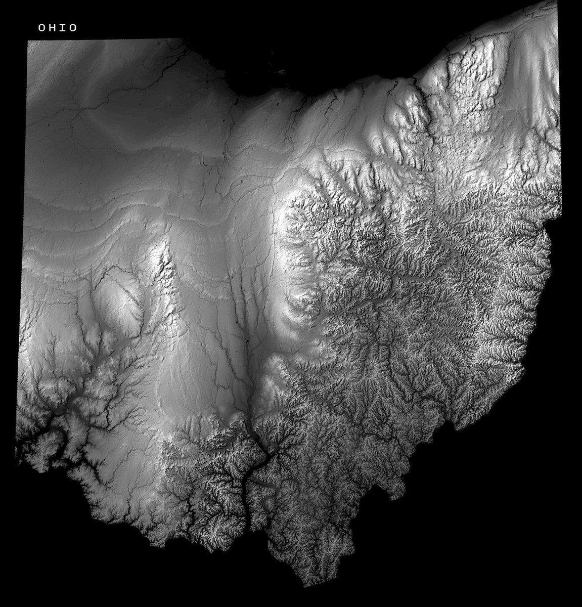 Amazing Maps On Twitter Ohio Elevation Map Amazingmaps