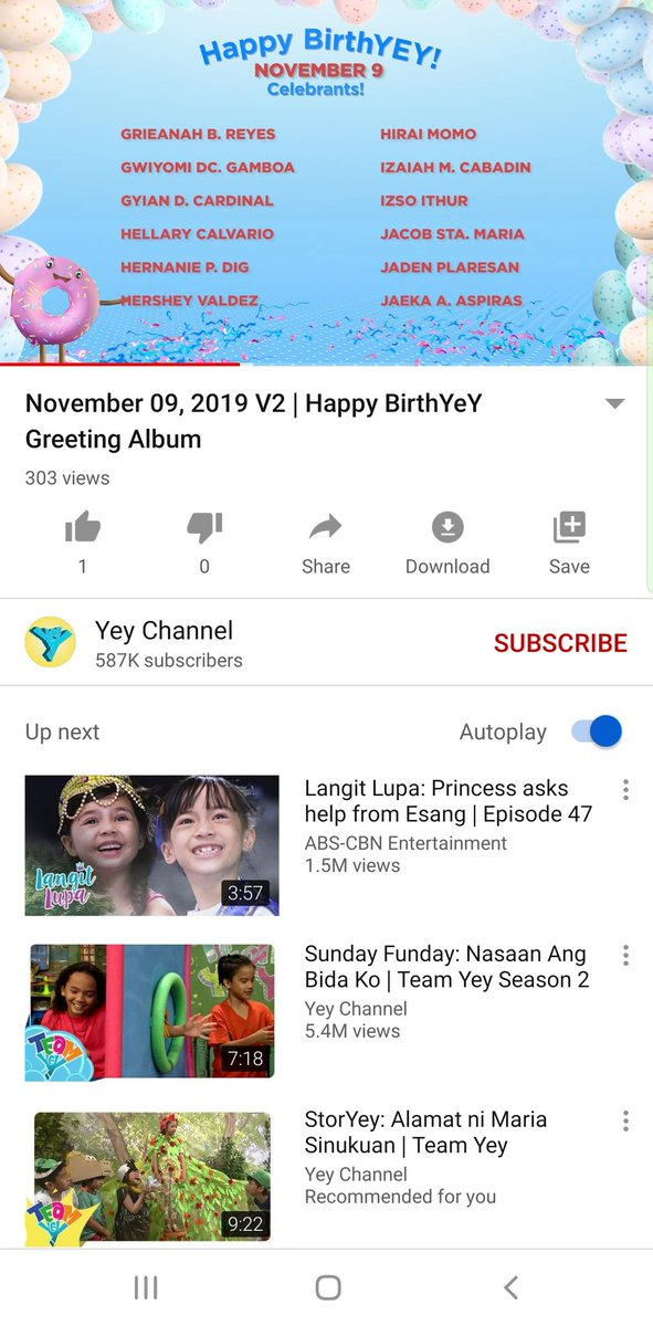 Yey is a Filipino Channel made for Kids. Hirai Momo is one of the Names that was listed on Happy BirthYEY Celebration on Nov 9 2019   #HappyMOMOday #DancingMachineMomo #twice   Skip at 33 seconds  @JYPETWICE  https:// youtu.be/y7mZE8z7x0Q     <br>http://pic.twitter.com/dB0WtlpDMa