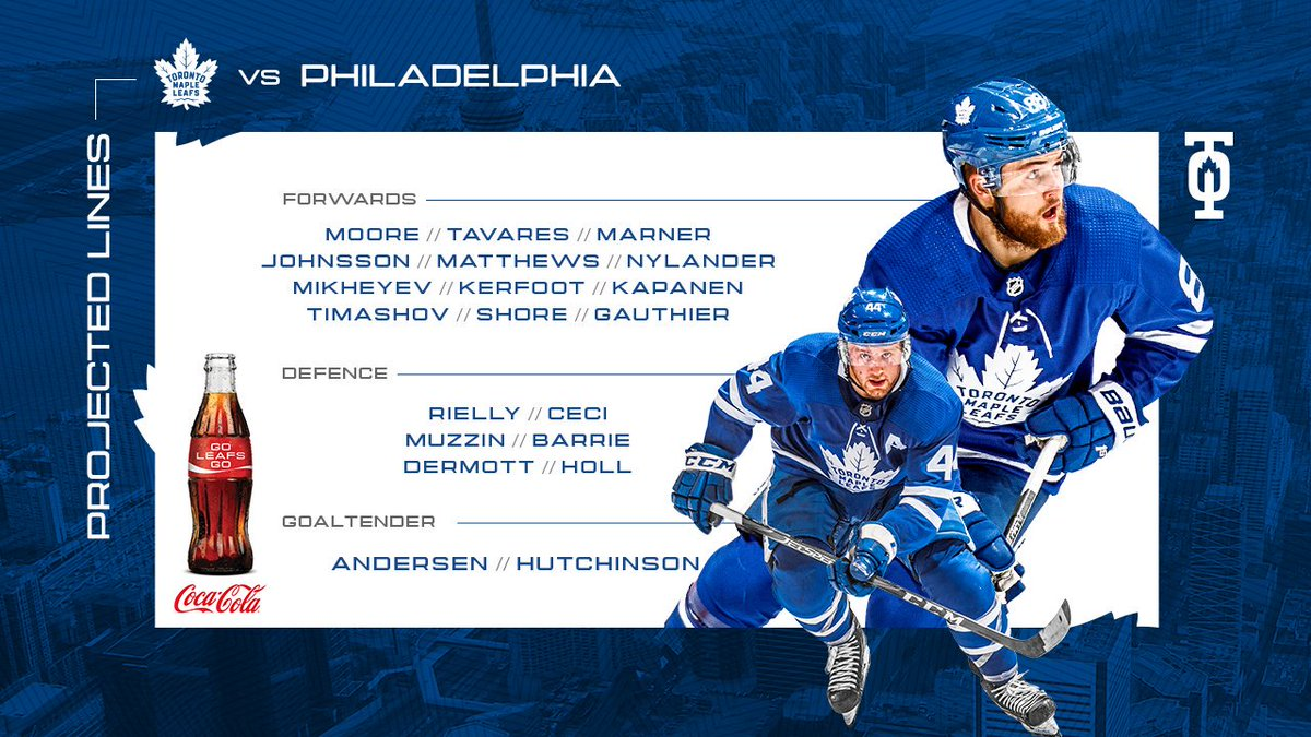 Toronto Maple Leafs On Twitter Here S How The Leafs Line Up Tonight Presented By Cocacola Ca Leafsforever