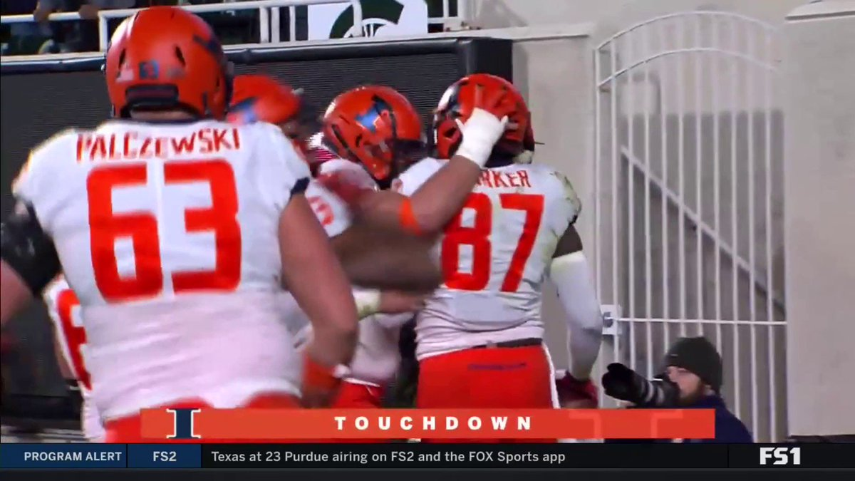 Illinois rallies from a 25-point deficit to beat Michigan State 37-34 and become bowl-eligible for the 1st time since 2014
