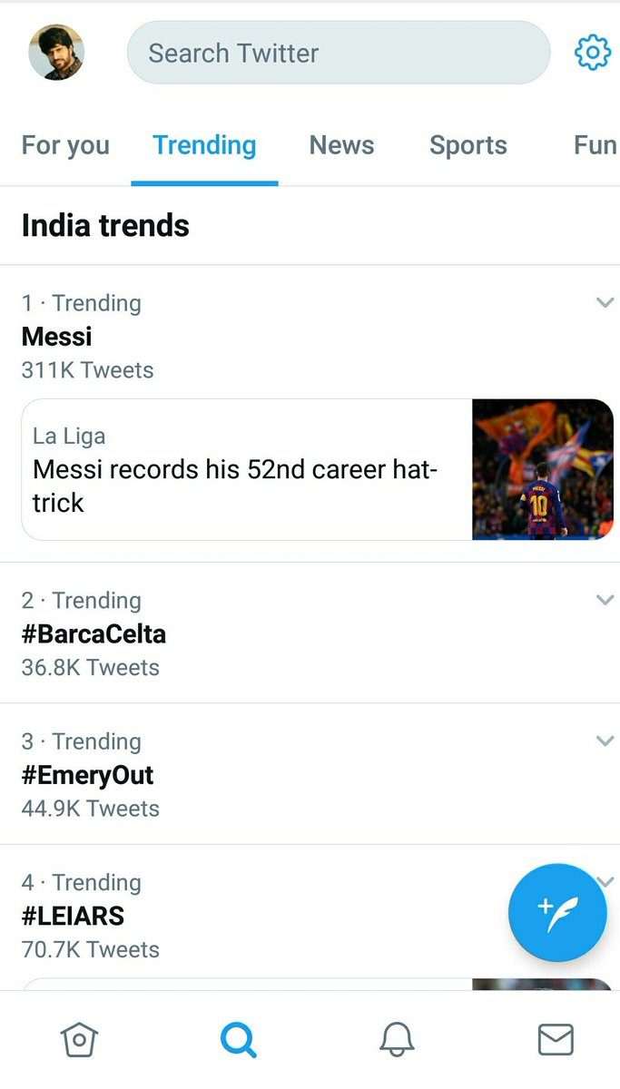 Messi  on the top.  #BarcaCelta