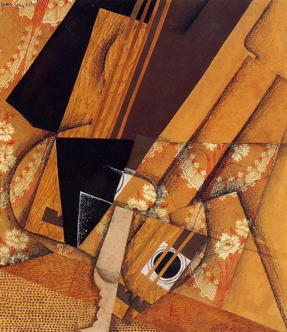 Guitar and Glass, 1914 #syntheticcubism #juangris <br>http://pic.twitter.com/qKqmD8givw