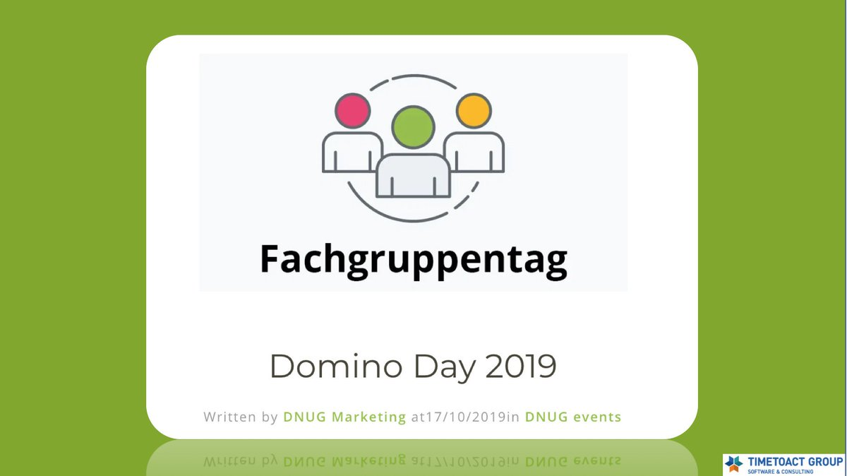 looking fwrd to meeting this dedicated @DNUG_Infos team again #dominoforever