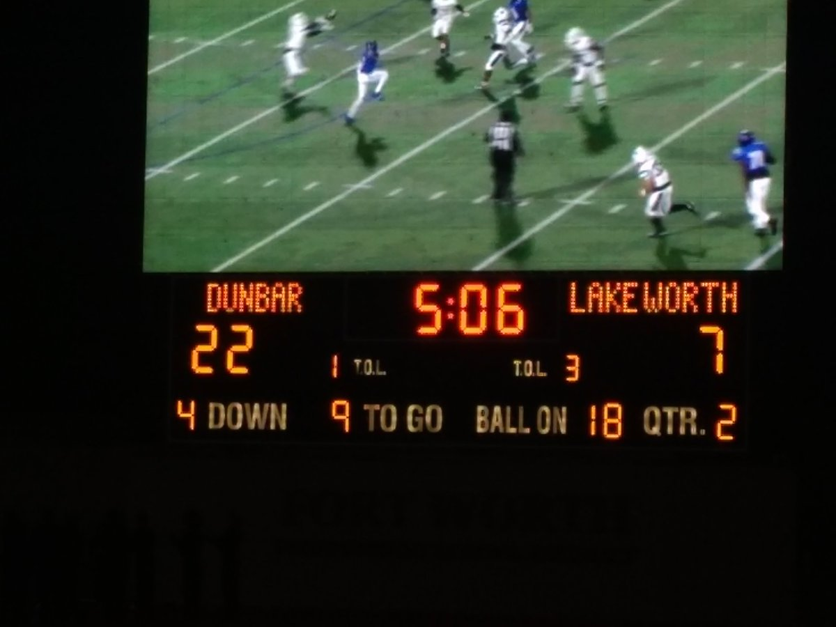 High School football from Clark Stadium in Fort Worth Dunbar hosting Lake Worth