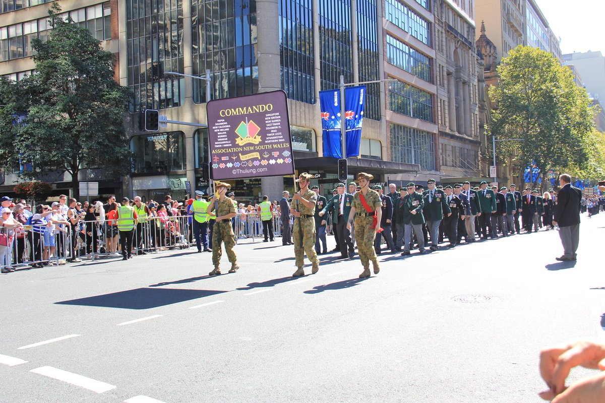 Australian Commandos marching on Anzac Day in Sydney New South Wales