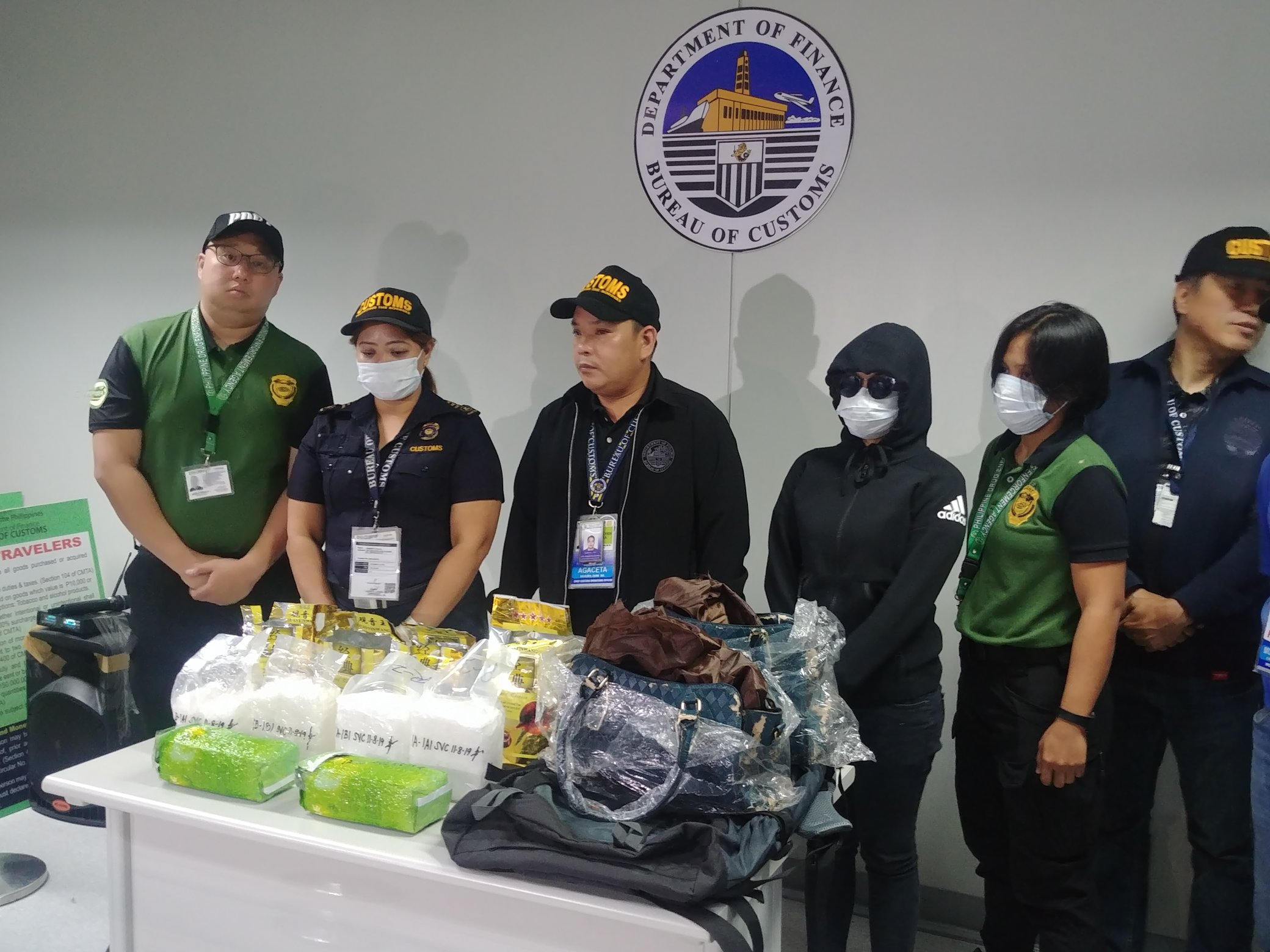 BOC Seizes P40.8M Worth Of Smuggled Drugs From Female Passenger