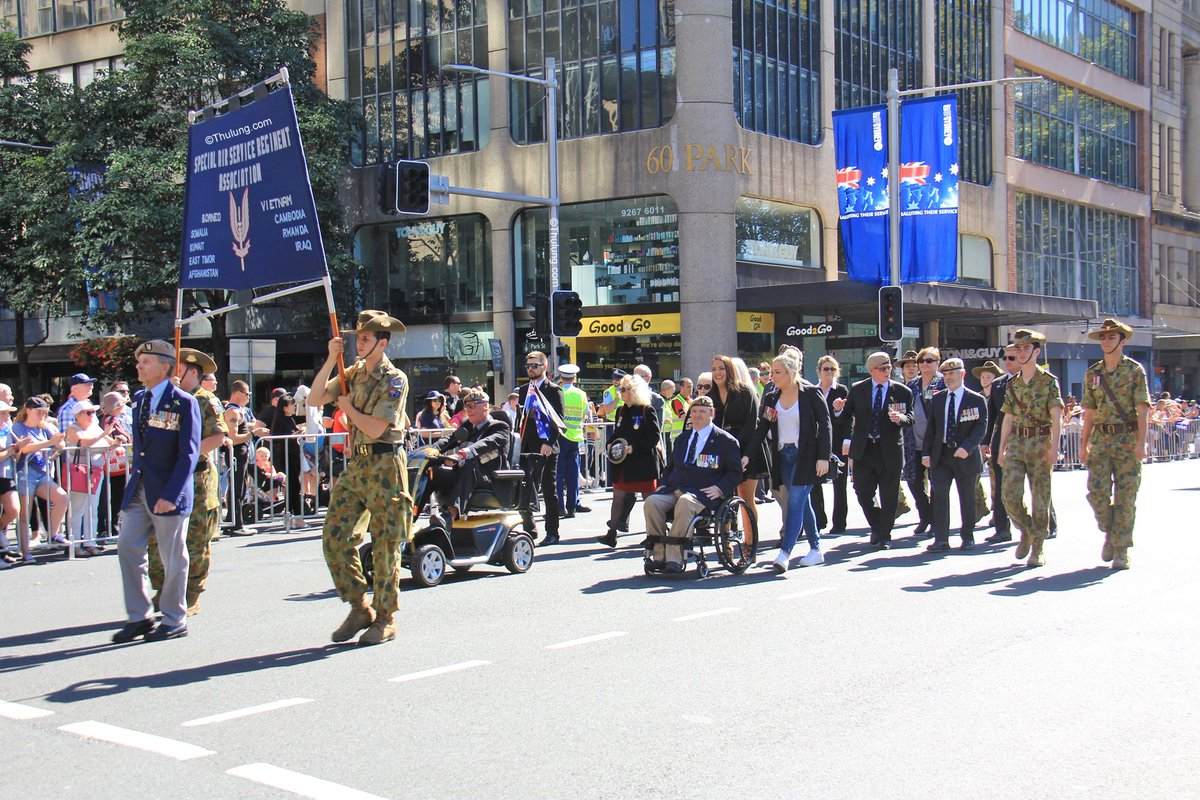 SAS marching on Anzac Day in Sydney