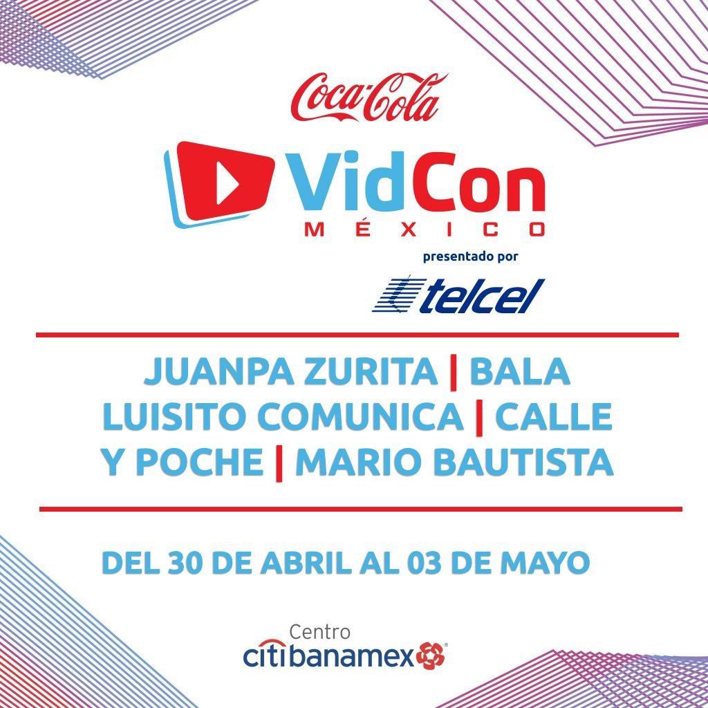 ¡Les presentamos a los headliners de VidCon México! 🔥🔥🔥 ¿Están listos para el mejor evento del mundo digital? #VidConMXReady