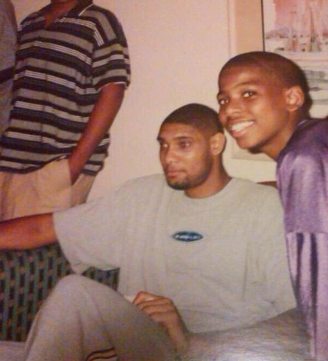 (1997) 12-year-old Chris Paul with Tim Duncan.  Timeless. 🎞