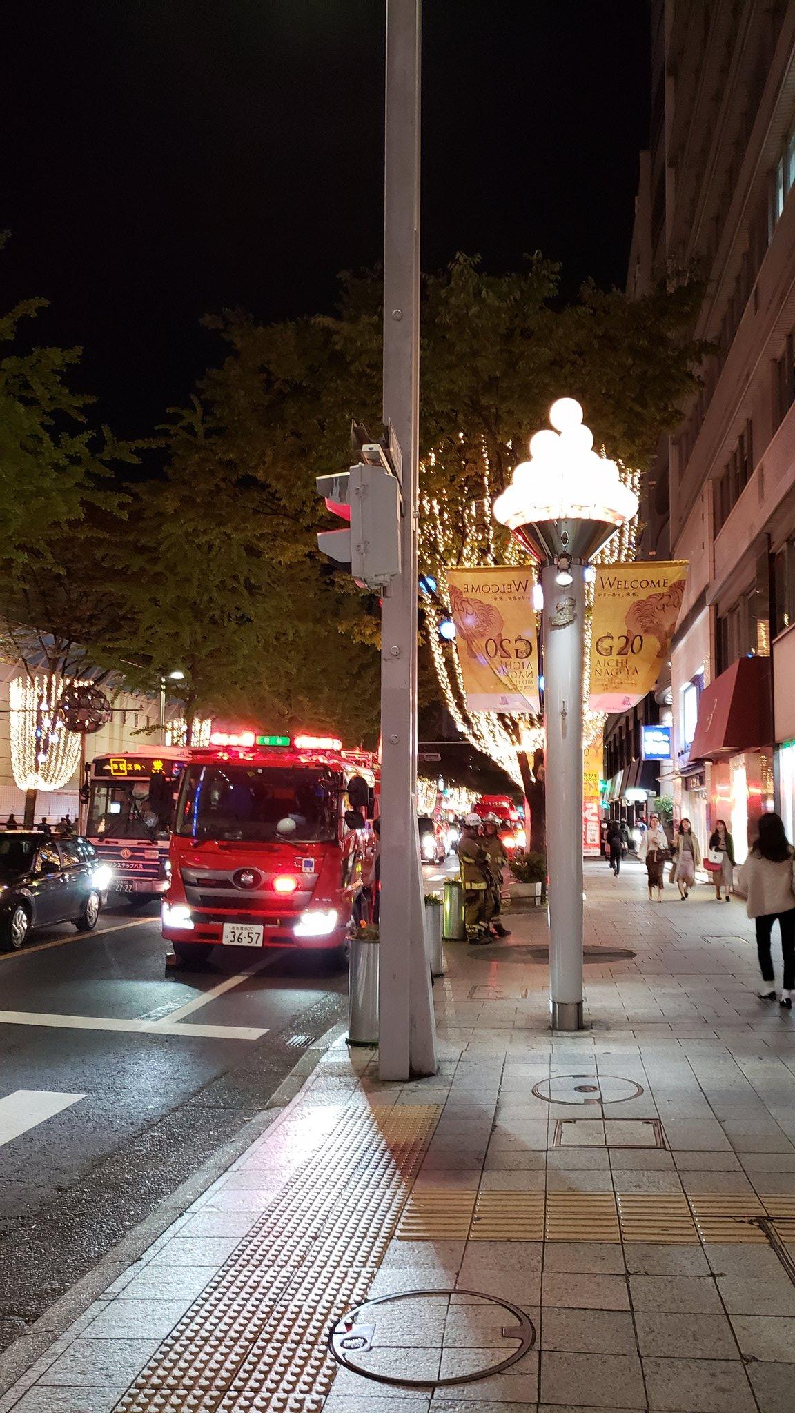 画像,栄来たら消防車めっちゃいたけどヤバそう? https://t.co/MX3Jt9IMGR。