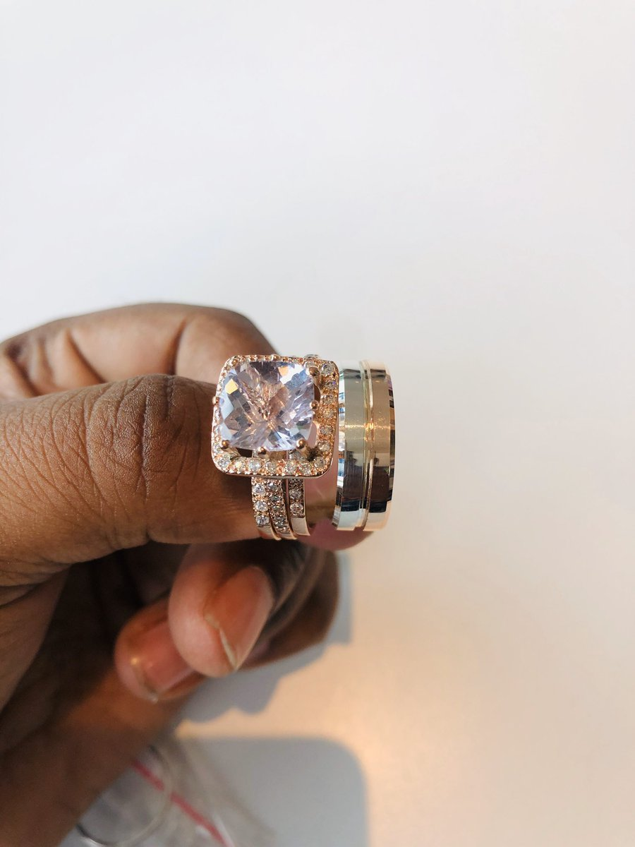 Guys is the sweetest story ever. Please dm me,my jewelry company will donate with these two beautiful rings worth R45000. They deserve Rose Gold with diamonds . #KFCProposal