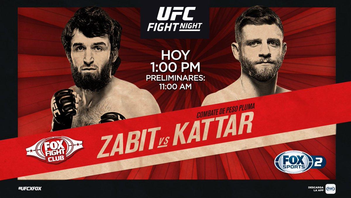 ¡UFC FIGHT DESDE MOSCÚ!  #UFCxFOX Zabit vs. Kattar, combate por el peso pluma en voz de nuestros expertos:    🎙 - @mariodelgadorzm 🎙 - @GersonMarlon 🎙 - @SalasJiujitsu  📺: FOX Sports 2  💻📱🖥️: http://goo.gl/nqVGjo