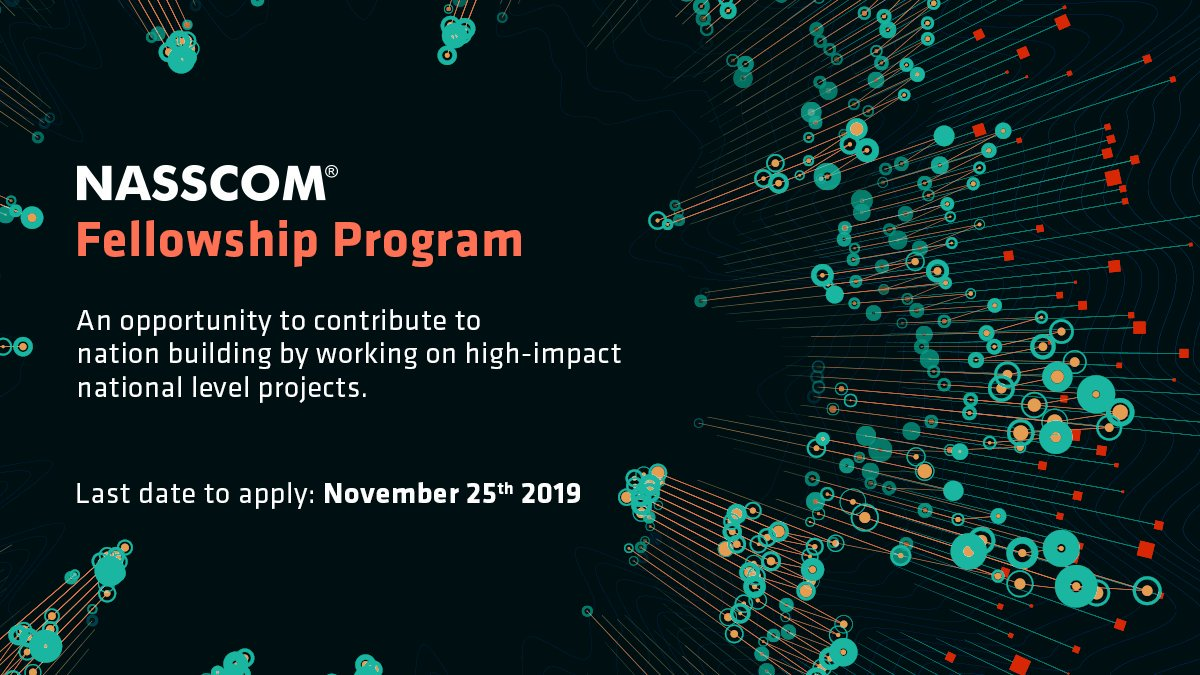NASSCOM Fellowship Program is the perfect program for those who are looking to work closely with our member firms & get first hand exposure to the dynamic leadership of IT/ITeS industry. For more details about the program and to apply, visit: https://bit.ly/2NGEGyB
