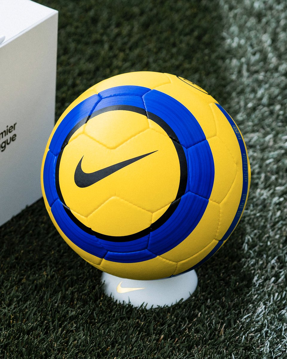It's back 😏 Celebrating the 20th anniversary of our partnership with the @premierleague, the iconic Hi-Vis Total 90 Aerow ball is back - but in extremely limited quantities. Keep your 👀 peeled on our site as timing and availability varies by country. #merlinball #nikefootball
