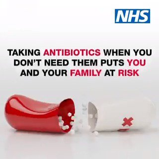 Taking antibiotics when you don't need them puts you and your family at risk. Always take your doctor's advice #KeepAntibioticsWorking