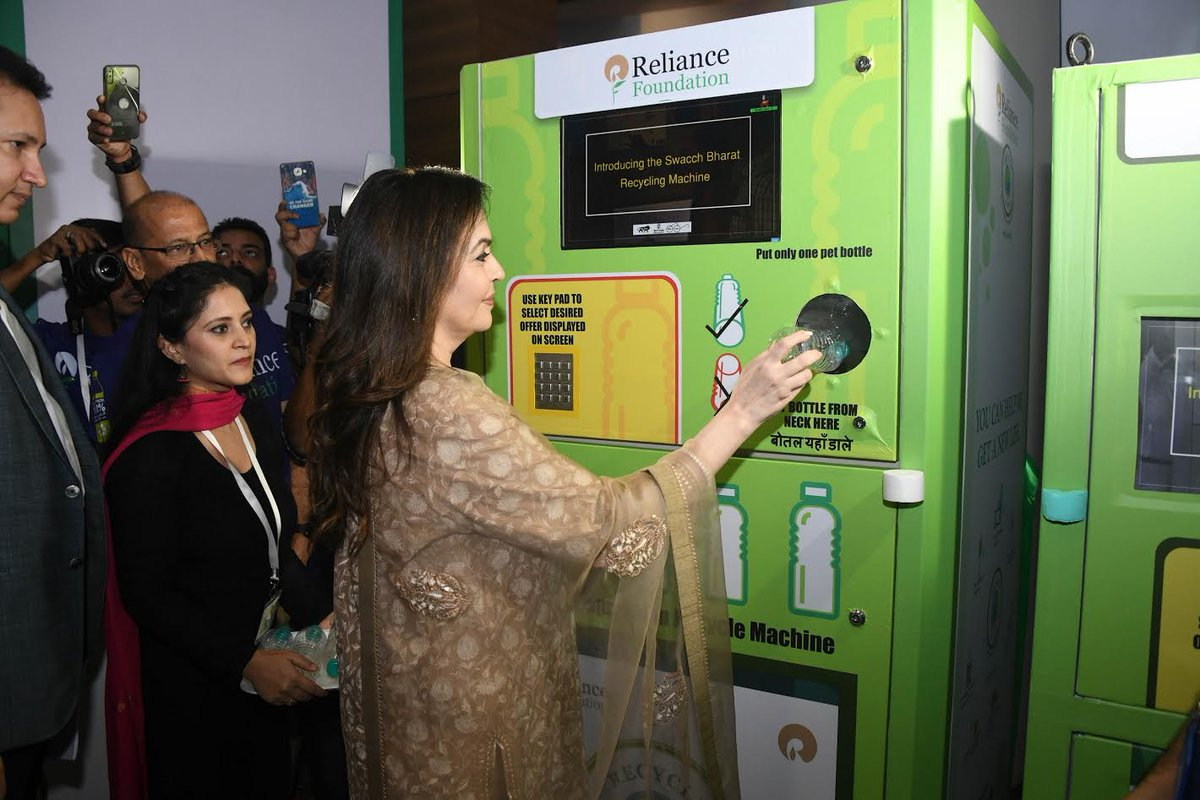 Reliance employees collect record setting 78 tons of waste plastic bottles for recycling