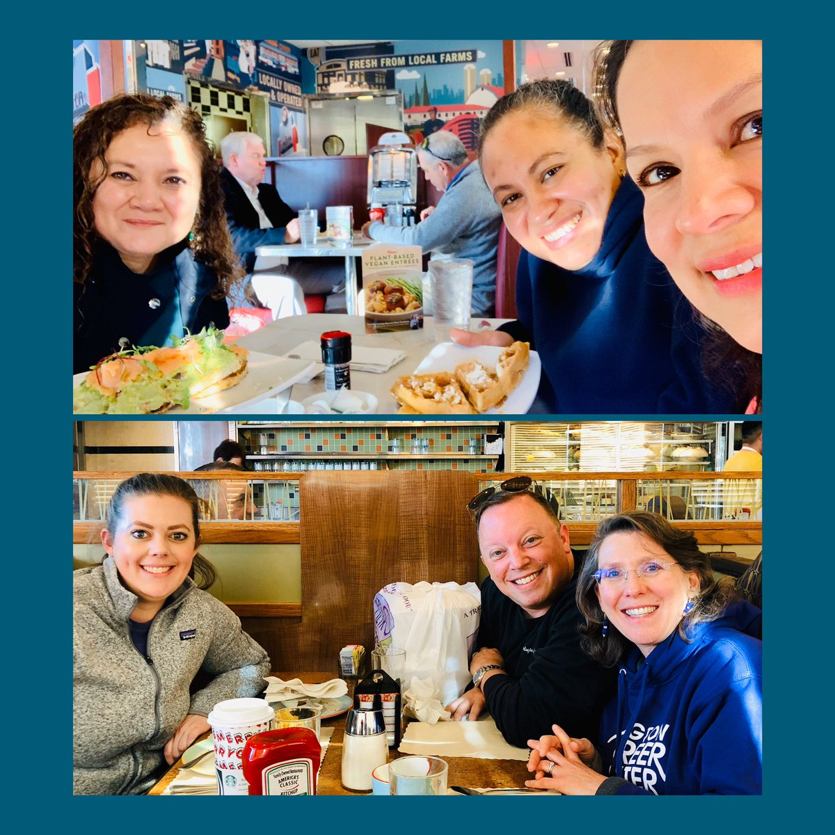 When school is unexpectedly closed due to a water main break, a working breakfast is on top of our agenda! Thanks Metro 29 & Silver Diner! <a target='_blank' href='http://twitter.com/APSCCMartinez'>@APSCCMartinez</a> <a target='_blank' href='http://twitter.com/ACCHilt_Inst'>@ACCHilt_Inst</a> <a target='_blank' href='http://twitter.com/arlingtontechcc'>@arlingtontechcc</a> <a target='_blank' href='http://twitter.com/APSCareerCenter'>@APSCareerCenter</a> <a target='_blank' href='https://t.co/aqqHpGMFsi'>https://t.co/aqqHpGMFsi</a>