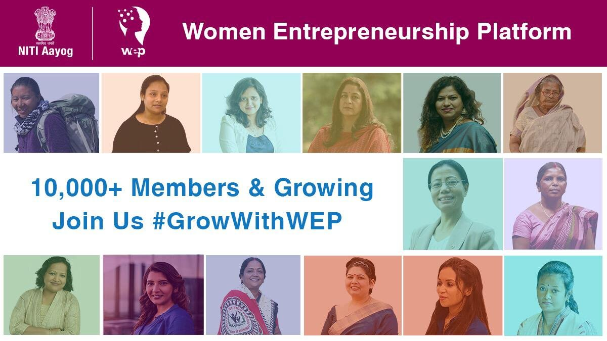 उठा रही सारी ज़िम्मेदारी, हमारे देश की नारी। Over 10,000 powerful women across India have shared their entrepreneurial journeys with us. #SheEmpowersIndia #GrowWithWEP, register now on the Women Entrepreneurship Portal: wep.gov.in