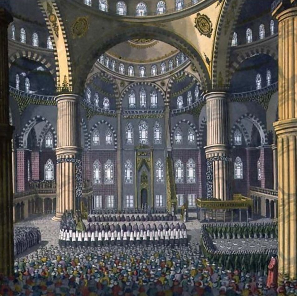 Mawlid al-Nabi Celebration (Birth of Prophet) in the Mosque of the Sultan Ahmed, Istanbul, 1784   Sultan Ahmed Camiinde Mevlid Kandili, İstanbul, 1784  #IngatJumatIngatSyariat . ☝️☝️. #fLr6C https://t.co/1VLmj1lBBh