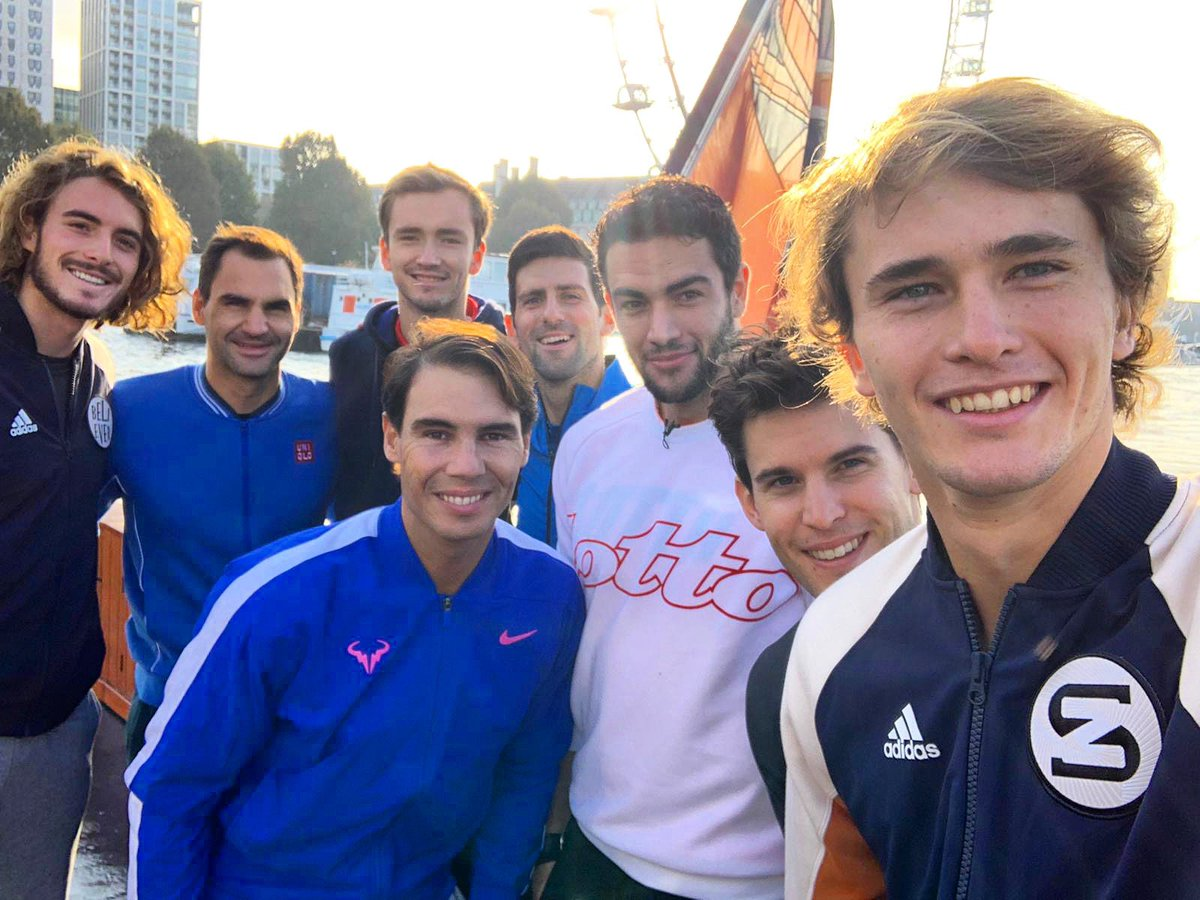 ! Top Tennis Selfie of 2019! VAMOS! #ATPFinals<br>http://pic.twitter.com/0HC7Jh1YQa