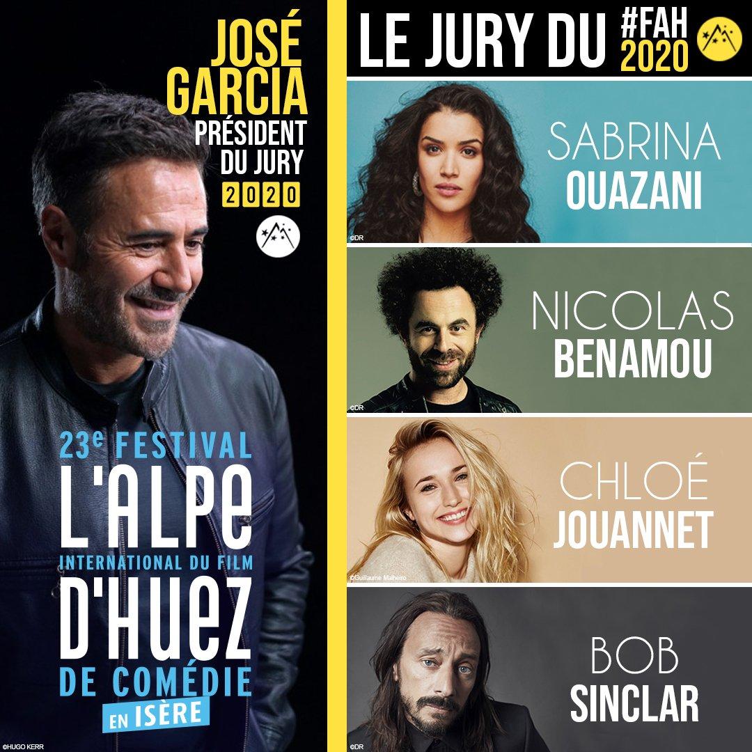 Annonce Officielle #FAH2020 ! Le Jury « Rock & Roll » composé par le Président @JoseGarciaOff accueillera @SabrinaOuazani, #ChloéJouannet, #NicolasBenamou et @bobsinclar #FAH2020 #JoséPresident #VivementJanvier