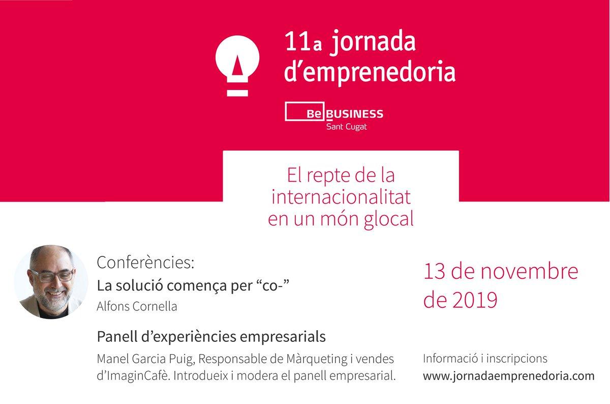 """Com emprendre en un món glocal?   Descobreix-ho a la #JornadaEmprenedoria organitzada per @CambraTerrassa i @ajsantcugat    ✅""""El repte de la internacionalitat en un món glocal""""  🗓️13 novembre  ℹ️https://t.co/kEisQPQbt2  #glocalentrepreneurship #StCBebusiness @ElenaVilaGomez"""